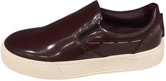 Balenciaga \N Burgundy Leather Trainers