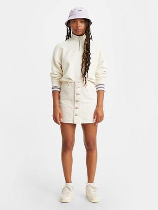 Levi's Button Front Denim Skirt