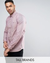 Ted Baker Tall Slim Smart Shirt In Spot