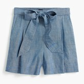 J. Crew Factory Tie-waist chambray short