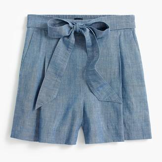 J.Crew Tie-waist chambray short
