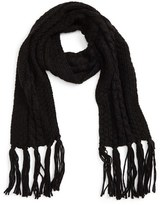 David & Young Women's Cable Knit Scarf