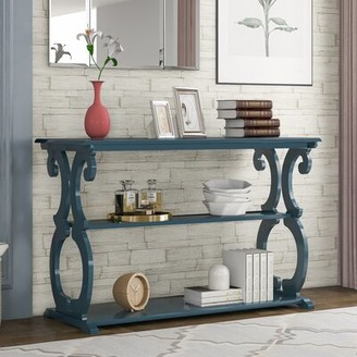 """Breakwater Bay Hovis 48"""" Console Table Color: Blue"""