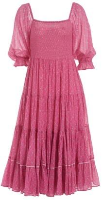 LoveShackFancy Rigby Midi Dress