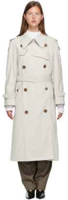 Low Classic Off-White Classic Trench Coat