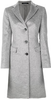 Tagliatore classic fitted coat - women - Polyamide/Cupro/Mohair/Virgin Wool - 38