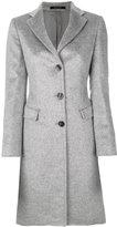Tagliatore classic fitted coat - women - Polyamide/Cupro/Mohair/Virgin Wool - 38