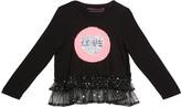 Design History Girls Girl's Flip Sequin Long-Sleeve Top, Size 2-6X