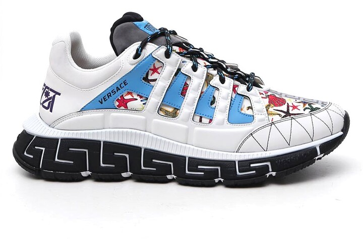 Versace Contrasting Paneled Sneakers