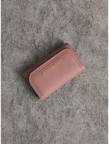 Burberry Grainy Leather Key Holder, Pink