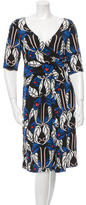 Temperley London Silk Printed Midi Dress