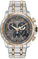 Citizen Men's Mens Eco Drive Two Tone Chronograph Watch