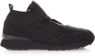 Hogan Technical Fabric & Glitter Sneakers