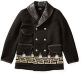 Ralph Lauren RRL Leather-Collar Wool-Blend Coat