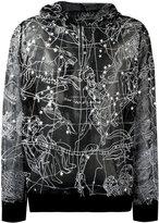 Kokon To Zai constellation transparent hoodie - unisex - Silk - M