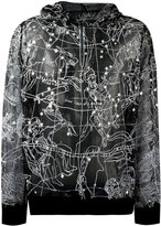 Kokon To Zai constellation transparent hoodie