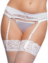Seven Til Midnight SEVEN 'TIL MIDNIGHT Women's Picot Lace Trim Garter Belt