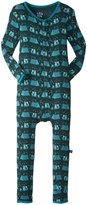 Kickee Pants Print Fitted Coverall (Toddler) - Camping Fox - 3T