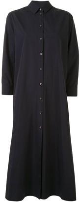 Jil Sander Pleated-Back Shirt Dress