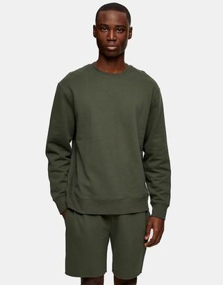 Topman shorts in dark khaki