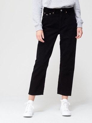 Tommy Jeans Harper High Rise Straight Jeans - Black