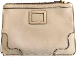 Prada Ecru Cloth Clutch bags