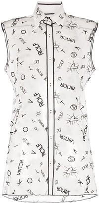 Viktor & Rolf Sheer Logo Print Shirt