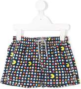 Mc2 Saint Barth Kids pac man print swim shorts
