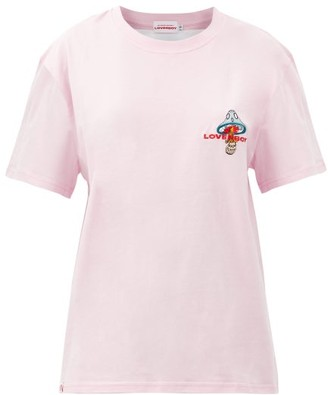 Charles Jeffrey Loverboy Art Gallery Cotton-jersey T-shirt - Pink