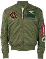 Alpha Industries multiple patches bomber jacket