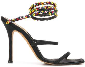 A.N.G.E.L.O. Vintage Cult beaded ankle strap sandals