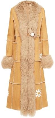 Miu Miu Single-Breasted Sheepskin Coat