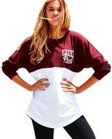Fashion Story Women Casual Bandage Sweatshirts Pink US 10-12