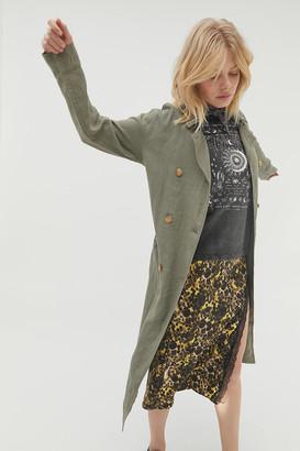AVEC LES FILLES Linen Duster Coat