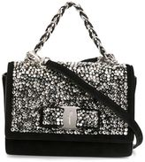 Salvatore Ferragamo embellished 'Ginny' crossbody bag - women - Suede/Crystal/metal - One Size
