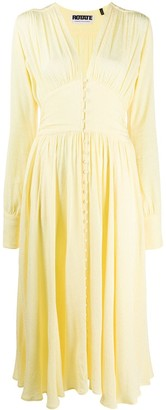 Rotate by Birger Christensen Ruched Detail Buttoned Dress