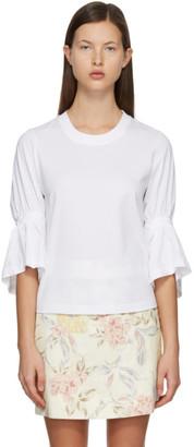 See by Chloe White Braided T-Shirt