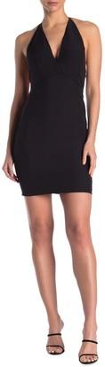 Do & Be Open Back Halter Mini Dress