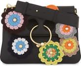 J.W.Anderson Pierce crochet-flowers medium leather shoulder bag