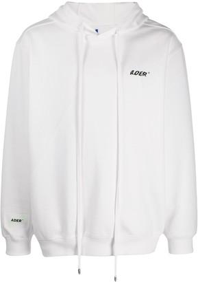 Ader Error Logo-Print Long-Sleeved Hoodie