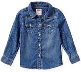 Levi's Baby Girls 12-24 Months The Western Long-Sleeve Denim Shirt
