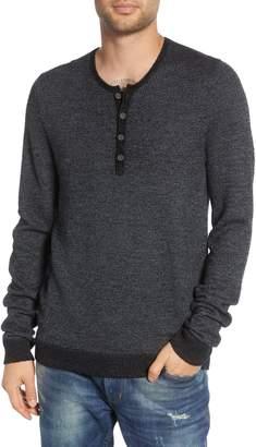 John Varvatos Wool Blend Henley Sweater