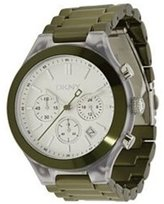 DKNY NY8268 Chronograph White Dial / Green Women's Watch