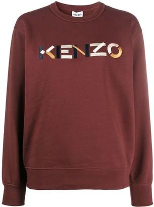 Kenzo Logo Print Cotton Sweatshirt