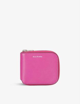 Acne Studios Kei brand-embossed leather wallet