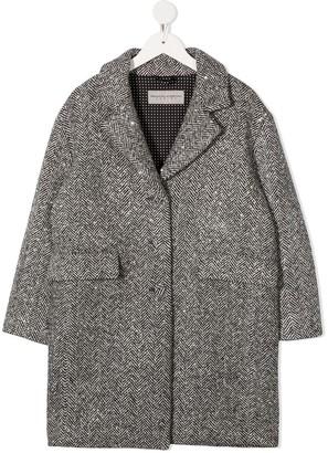 Ermanno Scervino Single-Breasted Herringbone Coat