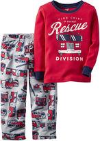 Carter's Red Fire Truck 2-pc. Fleece Pajama Set - Toddler Boys 2t-5t