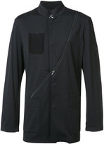 Y-3 diagonal zip jacket - men - Cotton - S
