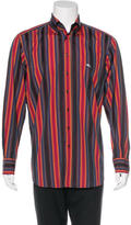 Etro Embroidered Striped Woven Shirt