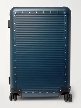 FPM Milano Spinner 68cm Leather-Trimmed Aluminium Suitcase - Men - Blue